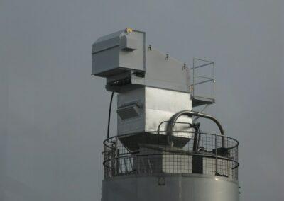 Odsávání explozních prachů filtračního zařízení