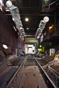 Odsávání vykládací jámy uhlí