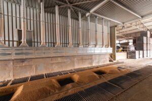 Odsávání výrobních linek potravinářských produktů