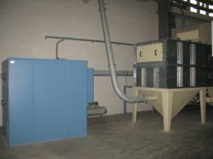 centrální vysavače pro výrobní haly