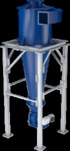 Cyklonový odlučovač slouží k oddělení prachu, a dalších pevných částic