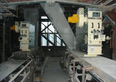 filtr pro záchyt odprašků z pásového dopravníku