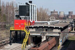 odprášení vykládací jámy uhlí