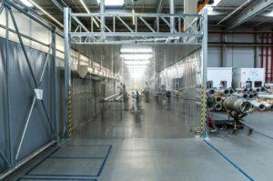 odsávací kabiny do průmyslové haly