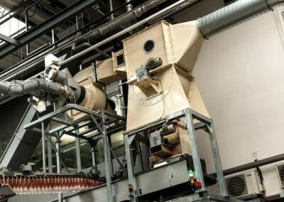odsávání odřezků v papírzpracujícím průmyslu
