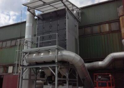 odsávání vzduchu ve slévárnách