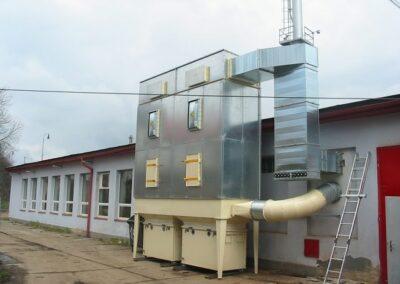 průmyslová filtrace vzduchu a prachu