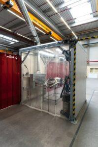 průmyslové odsávací kabiny na prach
