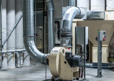 průmyslové radiální transportní ventilátory