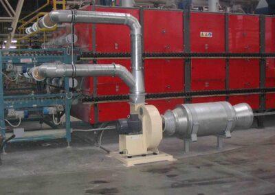výkonné radiální vzduchové ventilátory