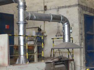 Odsávání plynových tavících pecí