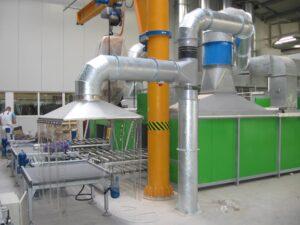 zařízení pro odsávání prachu ve slévárnách