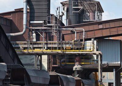 odprášení v železárnách