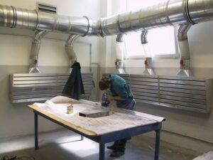 Odsávání prachu při broušení CIPRES